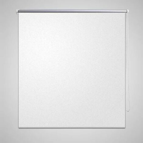 Persiana estor opaca enrollable blanco 100x175 cm