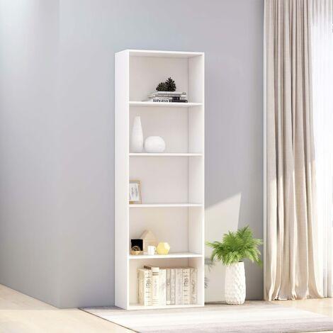 Estanteria 5 niveles aglomerado blanco 60x30x189 cm