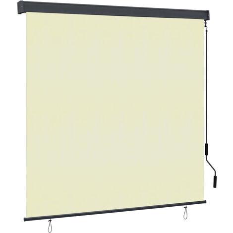 Estor enrollable de exterior color crema 170x250 cm