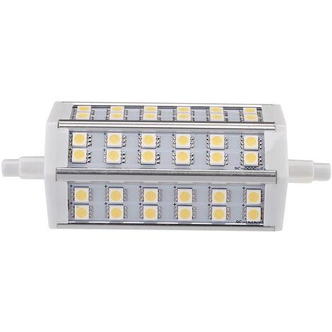 R7S 7W 36 LEDs SMD 5050 de ahorro de energia lampara de la bombilla 118mm blanco caliente 100-240V Reemplazar halogeno Reflector, blanco calido