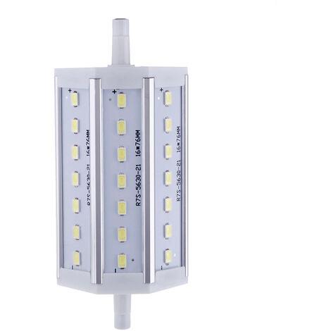 R7S LED 7W 21 5630 SMD ahorro de energia lampara de luz 118mm blanco 100-240V Reemplazar Proyector halogeno, blanco
