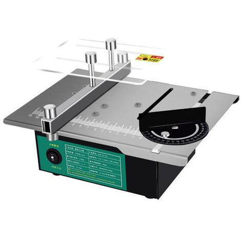 Mini sierras eléctricas de escritorio, máquina de torno para carpintería de molienda de bricolaje, ángulo ajustable