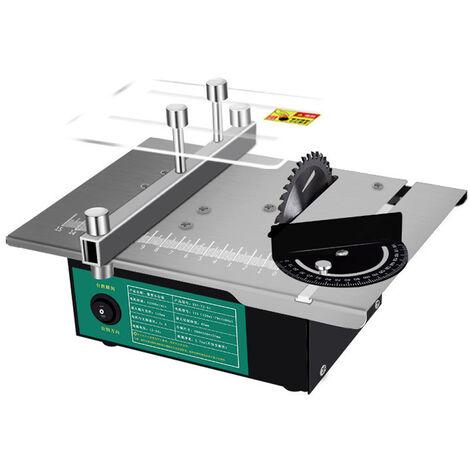Mini sierra de mesa multifuncional angulo ajustable sierras de escritorio electricas hogar DIY herramienta de molienda de corte maquina de torno para carpinteria
