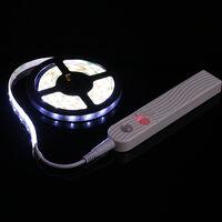 Lampara de gabinete con luz de tira, sensor de movimiento PIR,DC5-6V,2W,1M,60 LED,Blanco