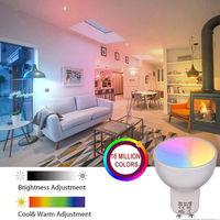 Bombilla WiFi GU10, RGBW 6W, para Alexa y Google-Home Remote