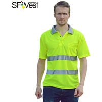Camiseta reflectante, ropa fluorescente, amarillo fluorescente, L