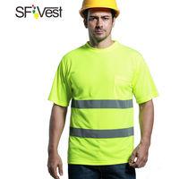 SFVest chaleco reflectante chaleco de seguridad para obras de construccion monos de seguridad para montar en carretera multibolsillos,Amarillo fluorescente,M