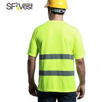 SFVest chaleco reflectante chaleco de seguridad para obras de construccion monos de seguridad para montar en carretera multibolsillos,Gran rojo,XXL