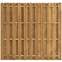 Panel de valla de jardin madera de pino 180x170 cm