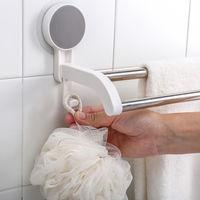 Adhesivo de bano de toallas, con 2 postes de acero inoxidable, que soportan el peso 6.6 libras