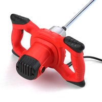Cemento KKmoon 220V 2100W electrico Handheld Mezclador Agitador 50 / 60Hz 6-velocidad de la mano Held hormigon mezclador para morteros pintura de lodo Grout 800 rpm / UE