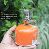 Superligero de la estufa de cocinar al aire quemador de la estufa que acampa plegable de gas con adaptador de recarga, 1 #