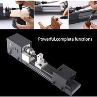 Juego de herramientas de mini torno Cuentas de la maquina pulidora de la madera del arte DIY de Rotary, Version Standard & enchufe de la UE