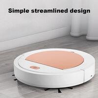 Mini aspirador inteligente escoba recargable del USB del hogar seco humedo Sweeper robot, blanco y oro