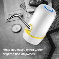 bomba de agua embotellada de agua electrico mineral hogar dispensador cuba cubo de agua pura presion de la prensa de agua automatico 018 blanco, White