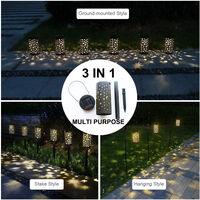 Luces de estaca solar luces LED hueco jardin colgante Luna Sun Star forma de proyeccion de la lampara LED Camino Calzada del cesped patio trasero de iluminacion