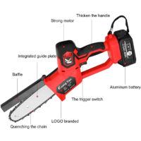 Sierra electrica portatil para podar, pequena motosierra para cortar madera, herramienta para trabajar la madera, sin bateria