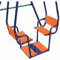 Juego de columpios con 5 asientos naranja