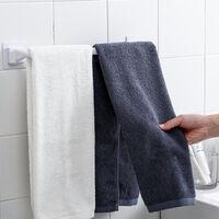 Toalla de bano suspension de la toalla Unas Sin monte Imagen de pared toalla del estante de la toalla de bano cocina para guardar Auto, Negro, Largo