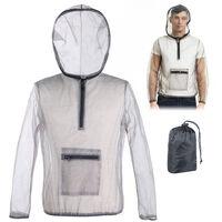 Ultraligero chaqueta al aire libre del acoplamiento de la capilla Bug Mosquito Ver la camisa Travers Proteccion Filete Escudo de insectos para ir de excursion acampar Pesca jardineria, Xxxl