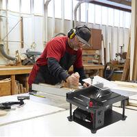 Multi-funcional Sierra de mesa Mini mesa de sierra cortadora electrica de la maquina de corte con hoja de sierra Muela ajustable velocidad de ajuste del angulo 35MM profundidad de corte de madera de plastico acrilico de corte, Negro, 1 #