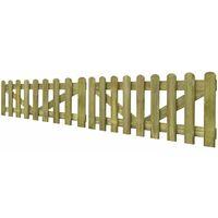 Puerta de valla madera impregnada FSC 2 unidades 300x60 cm