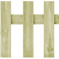 Puerta de valla de madera de pino impregnada FSC 170x60 cm