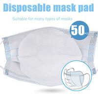 50pcs desechables mascarillas de filtro Pad 3 capas de filtro Filtro de proteccion transpirable Mascara del cojin de la boca de piezas para los adultos Kid