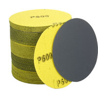 4.5in Surtido de discos de lijado 60/120/320/600/1000 semola 100 Paquete de gancho y bucle lijadora de disco de lija de carburo de silicio para Power Sander Pulidora amoladora angular