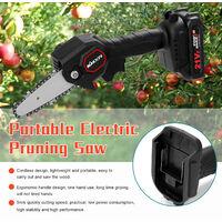 KKmoon Sierra electrica portatil poda pequeno bosque Spliting motosierra a una mano Herramienta de la carpinteria por un jardin Orchard