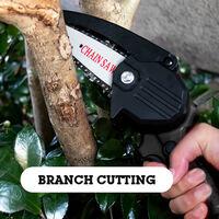 HILDA Sierra electrica portatil poda pequeno bosque Spliting motosierra a una mano Herramienta de la carpinteria por un jardin Orchard