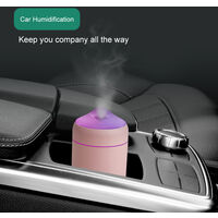 Aire m¨¢s fresco del coche Mini humidificador de gran capacidad de humidificaci¨®n Silencio USB uso en el hogar Oficina de escritorio luz de la noche aire de la niebla del difusor, Verde