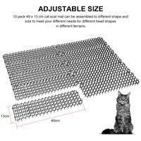 10 Paquete de Scat Cat Tiras 15.7Ft mascotas y perro de disuasion Prickle Mat Anti-Gatos Red de excavacion Suministros tapon gato Repelente de jardin al aire libre