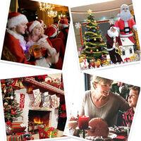 Silla de Navidad cubrepiernas cubierta de la silla de Santa trasero de la silla Cubiertas xams Cubre Sillas Caps Fundas para sillas de Navidad festiva Inicio tabla de cena partido de la decoracion decoracion de la cocina, cubierta de la silla