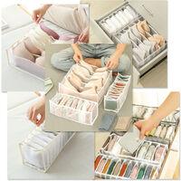 La ropa interior del sujetador Organizador Organizador Organizador de cajones plegables Cajas de almacenamiento para la ropa interior Panuelos Lazos, organizador del sujetador
