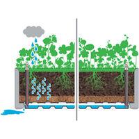 Arriate con enrejado y sistema de riego automatico verde