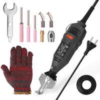 Cadenas de mano Mini Electric Tool Grinding Mill amoladora electrica motosierra Die Grinder Afilado de Herramientas de utilidad, Negro, enchufe de la UE