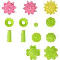 9V 1.8W de bomba solar Fuente con colorido flor tipo Boquillas con energia solar flotante del bano del pajaro con patas Fuentes fuente al aire libre Bomba de agua sin cepillo