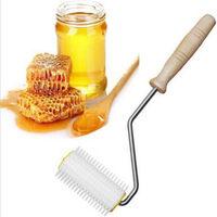 Mango de miel Extractor de nido de abeja apicultura Spinner suministro de madera en acero inoxidable desmontable