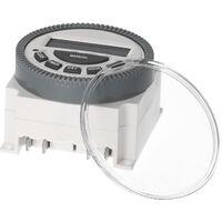Interruptor programable semanal KKmoon temporizador digital con el panel de la cubierta de polvo Montada temporizador electrico OFF Programas 16 Independiente de encendido / Inicio de luces de la oficina aficionados Electrodomesticos TV de cocina (12V CC)