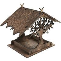 El nuevo estilo de madera del alimentador del pajaro de tamano pequeno alimentador del pajaro al aire libre emulational Tree House