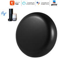 Control remoto por infrarrojos universal, compatible con control remoto de aplicaciones moviles, compatible con control de voz, negro,Negro