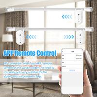 2pcs Tuya Smart Curtain Motor BT Interruptor de control de voz Cortina electrica Robot APP Control Temporizador Configuracion Compatible con Alexa Google Home para Roman Rod, Blanco, 2 piezas