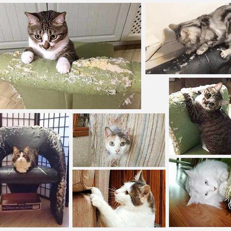 Weiyiroty Protezione Divano per Gatti Nastro Protettivo per mobili Protezione per Divano per Animali Domestici Protezione per Divano per Gatti per Materasso Proteggi Small
