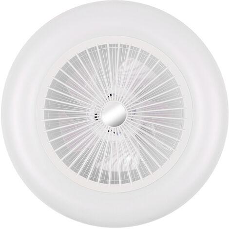 Nbvcxz Ventilatore da soffitto con luci e telecomando pale a scomparsa Plafoniere moderne dimmerabili 48W fan fan per soggiorno-Dimming doppio controllo/_32 pollici 48W 72W