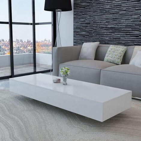 62x35x55 cm Tavolo da caff/è Dappoggio in Legno e Metallo U- Shape Ausla Tavolino Laterale da Divano Tavolino Consolle