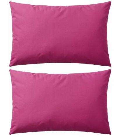 Cuscini da Esterno 2 pz 60x40 cm Rosa