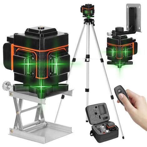 KKmoon 3D livella a bolla con display digitale a 12 righe con supporto telescopico per treppiede sollevabile da 1,5 metri livella a bolla con alimentazione a batteria, 220 V UE