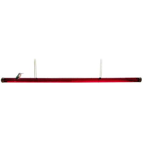 Alimentatore per colibr¨¬ con tubo flessibile di alimentazione per fori Facile da usare L'alimentatore per tubi lunghi appesi e il miglior strumento di giardinaggio,Rosso 40 cm