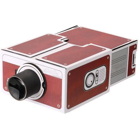 Mini Smart Phone Proiettore Cinema Portatile Uso domestico Proiettore di cartone fai-da-te Dispositivo proiettivo di intrattenimento per la famiglia
